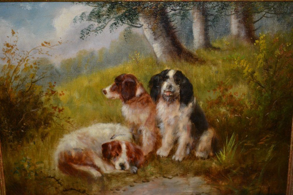 After George Armfield, pair of oil paintings on canvas,