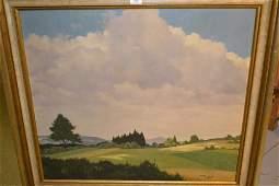 M Metzker large oil on canvas a German landscape in