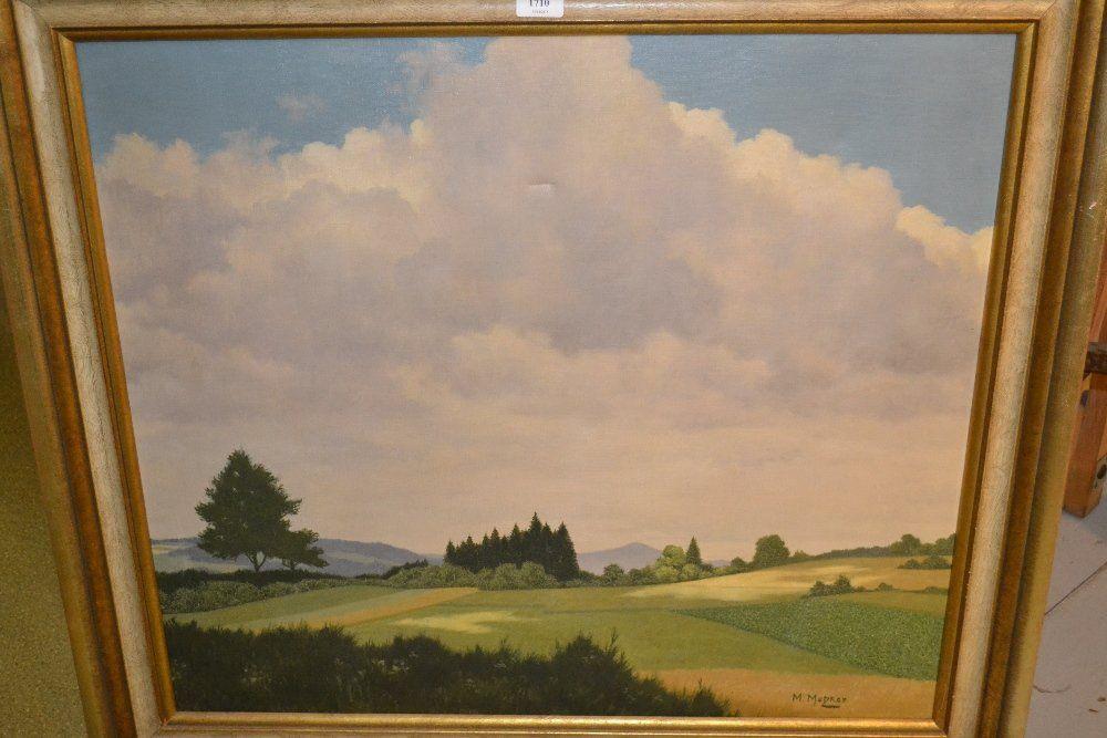 M. Metzker, large oil on canvas, a German landscape in
