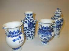 Pair of Chinese porcelain vases decorated in blue and