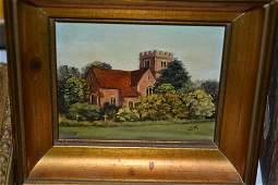 Doreen Medhurst, set of three miniature oil paintings