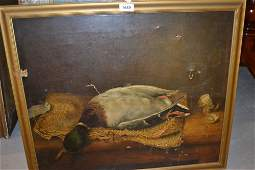 19th Century English school, oil on canvas, still life