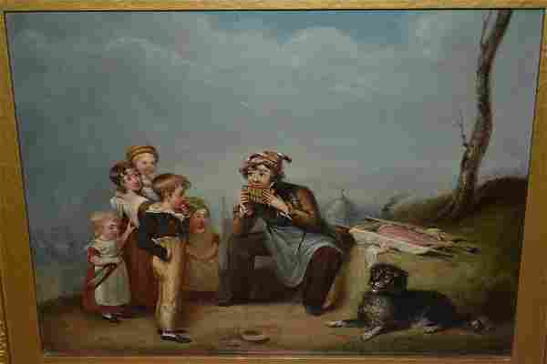 19th Century Continental oil on canvas, a seated young