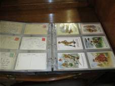 Album containing an extensive collection of pre-war