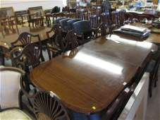 Reproduction mahogany dining room suite comprising: set