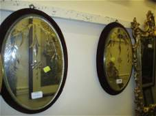 Pair of late 19th or early 20th Century Venetian etched