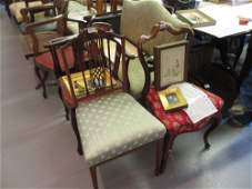 Victorian rosewood balloon back side chair together
