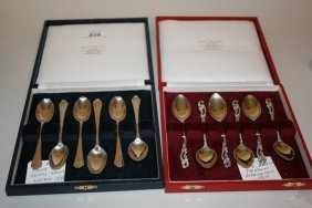 Set Of Six London Silver Coffee Spoons, Dated 1933