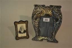 Art Nouveau design hallmarked silver photograph frame