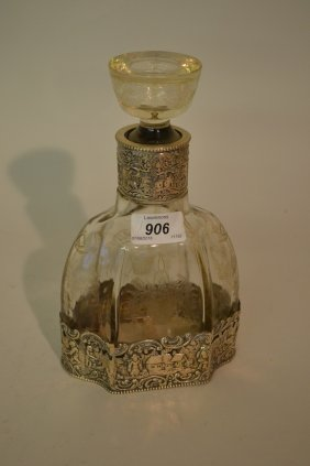 19th Century Dutch Etched Glass Decanter With 800