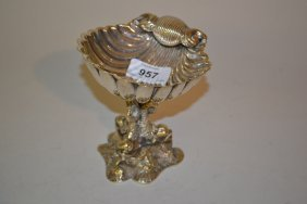 Small 19th Century Silver Plated Tazza Of Shell Form