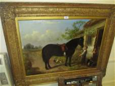19th Century English school, oil painting on canvas,
