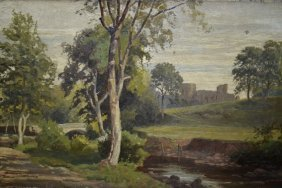 Early 20th Century English School Oil On Canvas,