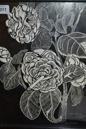 John Bratby, Black Scraperboard, ' A Concupiscence For