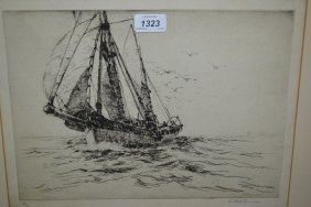 Arthur Briscoe, Signed Etching Entitled ' The Trawler