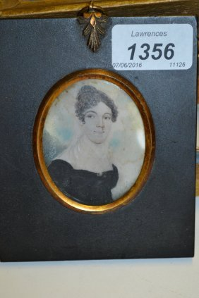 19th Century Miniature Portrait On Ivory Of A Young