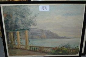 E.p. Corin, Pair Of Signed Oils, View Of The Italian