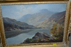Douglas Falconer, Oil On Artist Board, View At Loch
