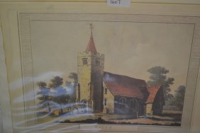 Original Copper Plate Engraving Of Hayes Church, Kent,