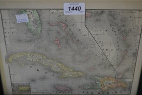 Two Small 19th Century Maps, Cuba And The United