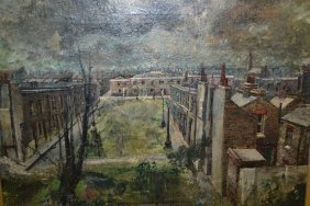 Two Framed Oils, View Across A Suburban Landscape,