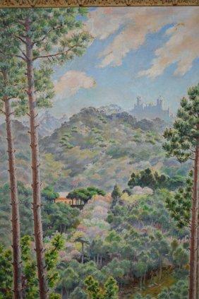 M. Cooper, 20th Century Oil On Board, Landscape View Of