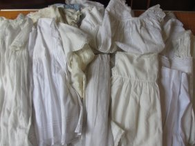 Large Quantity Of Embroidered Christening Gowns,