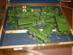 Quantity Of Dinky Die-cast Metal Model Military