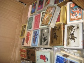 Large Box Containing A Large Quantity Of Art Deco Packs