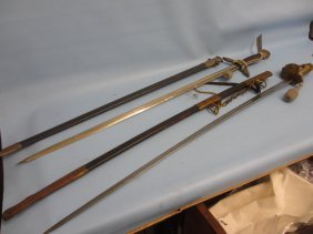 20th Century Naval Officer's Sword With Lions Head