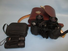 Carl Zeiss Jena, 8 X 30 Wide Angle Binoculars In A Hide