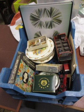 Small Box Containing A Quantity Of Miscellaneous Items
