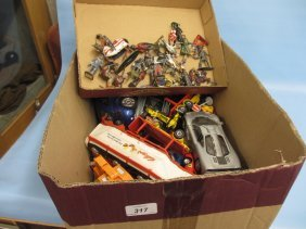 Box Containing A Quantity Of Various Die-cast Model