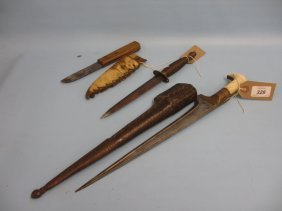 Middle Eastern Dagger With Leather Scabbard, Replica