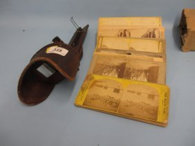 Stereoscopic Card Viewer Together With A Quantity Of