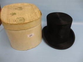 Late 19th Century Samuel Mortlock & Son Black Silk Top