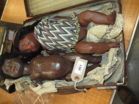Heubach Koppelsdorf, Bisque Headed Negro Doll Together