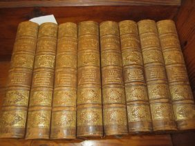 Eight Volumes ' Works Of Shakespeare ', Part Leather