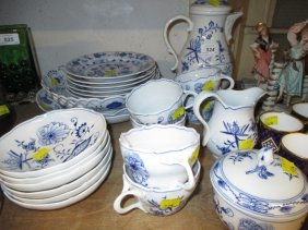 Collection Of Modern Meissen Blue And White Onion