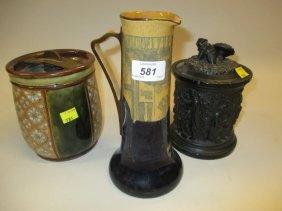 Royal Doulton Seriesware Jug Vase, A Doulton Silicon