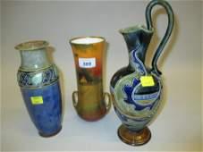 Frank Butler for Doulton Lambeth stoneware jug vase