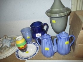 Seven Various Items Of Ashtead Pottery