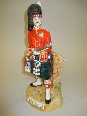 Porcelain Figure Of An Argyll And Sutherland Highlander