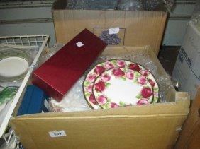 Box Containing A Quantity Of Various Royal Albert
