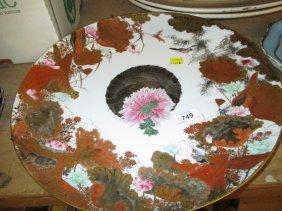 Japanese Kutani Circular Porcelain Wall Plate Painted