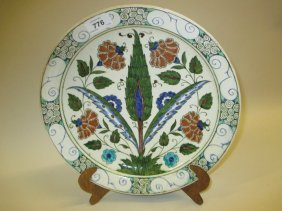 Doulton Lambeth Persian Ware Circular Wall Plaque By