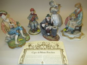 Three Various Capo Di Monte Figures And A Spanish