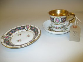 19th Century French Porcelain Cabinet Cup And Saucer