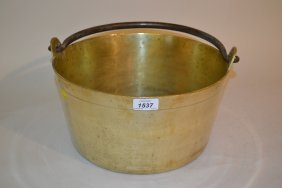 Brass Preserve Pan With Iron Swing Handle