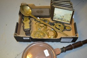 Small Quantity Of Horse Brasses, Copper Warming Pan, A